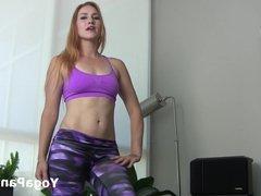 Jolene in sexy yoga pants