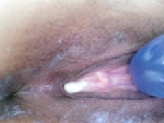 Selfshot orgasm with contractions