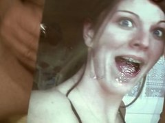 Tribute for pornexpert1 - huge load of sperm in her mouth