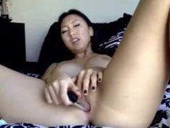 Asian Plays with a Dildo