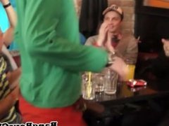 Muscled euro jerking off at sexparty