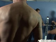Bukkake Boys - Twink gets barebacked at the gym