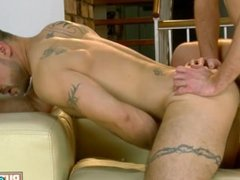 Hard Anal For Tattooed Man
