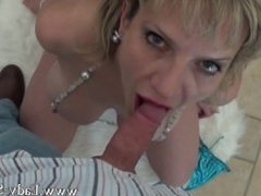 MILF Lady Sonia sucks cock big tits cum