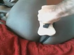 black girl playing with her clit