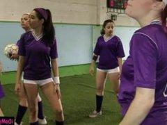 Football rookies fondling each pussies
