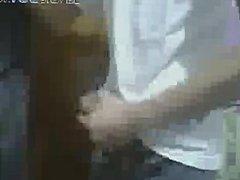 Arab teen boy has a wank on webcam
