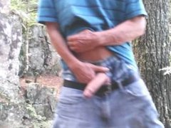 Uncut cock forest stroking #7