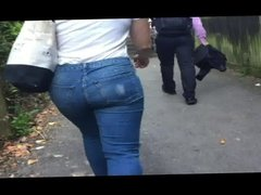 Blondes Ass In Tight Jeans