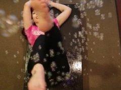 Ludella Hahn foot fun w/ bubble gun