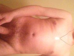 undress body cock uncut uncircumcised long foreskin erect