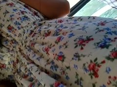 upskirt see truh in bus