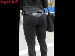 Candid Latina in Yoga Pants Big butt