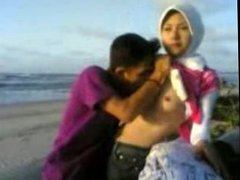 Malaysian Hijab Girl at the beach