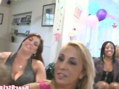 Shameless partyladies swallowing cock