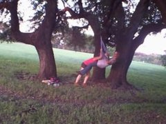 HUMPING ON SEX SWING IN PUBLIC PARK