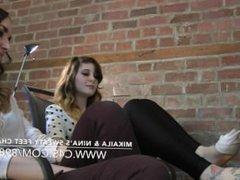 Mikaila & Nina's Sweaty Feet Challenge - www.clips4sale.com/8983/15719800