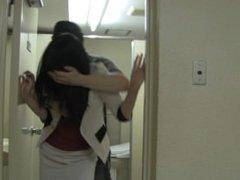 Japanese Girls Bound In Bathroom