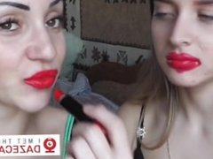 Messy Lipstick Kissing!