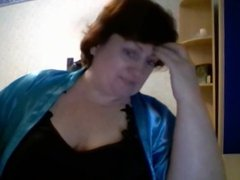 Hot 46 yo Russian mature Olga play on skype