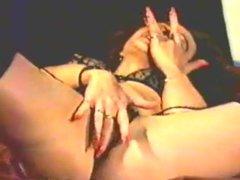 Retro Classic - Girl Masturbating in Crotchless Panties