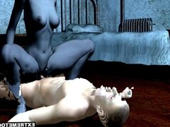 3D Vampire Vixen Riding a Stud's Hard Cock