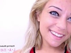 HOT BLONDE SUCKS COCK AT CASTING AGENCY AUDITION