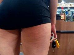Pussy gap black spandex shorts(Playtime)