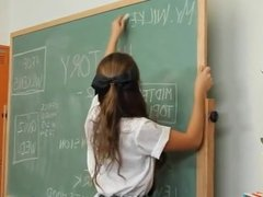 Remy LaCroix is a very horny student!