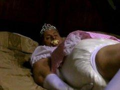 diapered sissybaby princess triple diapers