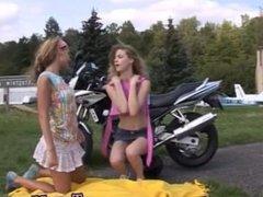Gangbang teen blonde bbc Young girl/girl biker girls