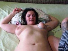 Bondage, Big Natural Tits Mature Aunt!