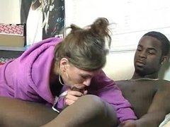 White Chick Gets Black Dick