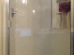 Aymee having fun in the shower