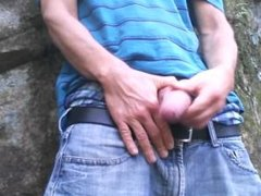 Uncut cock forest stroking #9