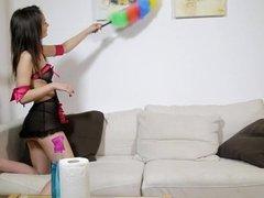 Hot lesbian babes have hard sex