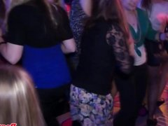 Party amateur cocksucks bbc on the dancefloor