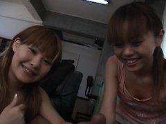 Two japanese jav girls handjob