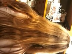 Nice blonde ass
