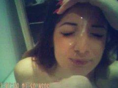 Girl takes a nice facial