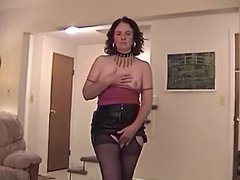 LEATHER SKIRT BLOWJOB # 4