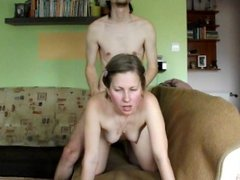Wife riding and facial