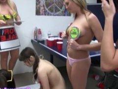 College teens partying in dorm