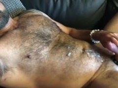 Hot Hairy Daddy Jerks Off & Cums for Me