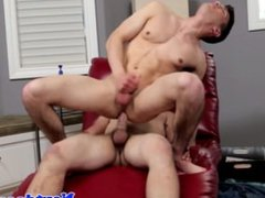 Buff twunk assfucked while jerking his cock
