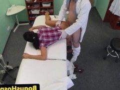 Euro patient pussylicks and fingers nurse