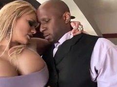 Busty realtor wants client big black cock