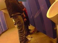 in public toilet