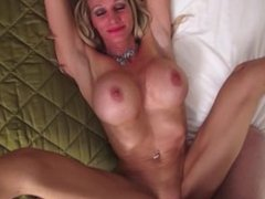 Ceira Roberts, Yoga MILF with huge tits, fucks hard, big cum load in mouth