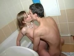 Teenagers sex in the bathroom